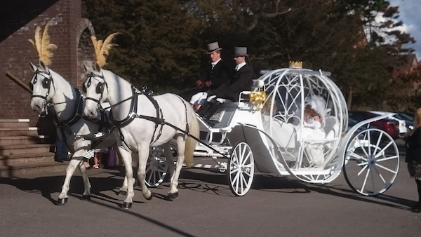 Princess Carriage Kilvey Carriages Wedding Swansea